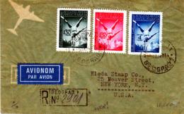 YUGOSLAVIA  1947 BALKAN GAMES  SET On REGISTERED AIRCOVER - 1945-1992 Socialist Federal Republic Of Yugoslavia