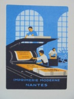 NANTES - IMPRIMERIE MODERNE BEUCHET ET VADEN BRUGGE - 1930 - BELLE DECO - Frankreich
