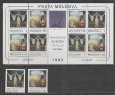 Moldavie Europa 1993 N° 83/ 84 Et BF N° 5 ** Art Contemporain - 1993