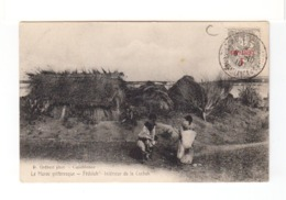 Sur CPA Du Maroc CAD Trésor Et Poste Des Armées Casablanca 1910 Sur Type Blanc Surchargé En Rouge 1 Centimo (2575x) - Morocco (1891-1956)