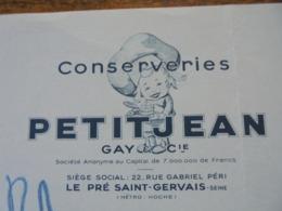 LE PRE ST GERVAIS - CONSERVERIES PETITJEAN - 1956 - BELLE DECO - Frankreich