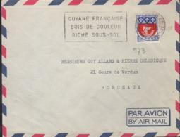 """Guyane 973 Cayenne RP 16-10 1967  Flamme Secap =o """" Guyane Française Bois De Couleur Riche Sous-sol"""" - Marcophilie (Lettres)"""