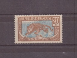 Moyen Congo, 1907 / 1917, N° 54 Oblitéré - Französisch-Kongo (1891-1960)