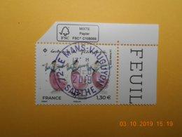 FRANCE 2019  EUROMED  COSTUMES DE LA MEDITERRANEE   Beau Cachet  Rond Sur Timbre Neuf  Coin De Feuille - Frankreich
