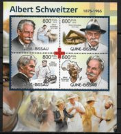 GUINEE BISSAU  Feuillet N°  4394/97  * *  ( Cote 17e )  Schweitzer Croix Rouge Medecine - Albert Schweitzer