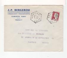 Sur Enveloppe De J.P. Bergeron Luriecq C. Agence Postale 1962 Hexagonal Tireté Luriecq Loire Sur M. De Decaris. (2577x) - 1961-....