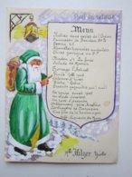 Noël Du Retour, Menu - Menükarten