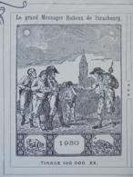 PUBLICITE - STRASBOURG 1926 - F. X. LEROUX - IMPRIMERIE, LIBRAIRIE, RELIURE - BELLE DECO - Frankreich