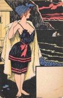 Illustrateur - N°61870 - Genre Kirchner - Une Jeune Femme En Tenue De Bain - Kirchner, Raphael