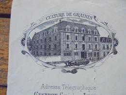 FACTURE - ANGERS 1895 - CULTURES DE GRAINES - P. CESBRON - DECO - Frankreich