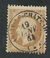 France. Napoleon III ,10cts Oblitéré Anizy Le Chateau (Aisne) - 1862 Napoléon III
