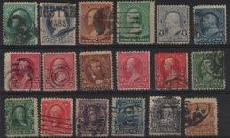 ED 37 - ETATS-UNIS Collection Obl. Avec Classiques Et Postes Aériennes, Variétés De Teintes Et De Dentelures Forte Côte - Collections