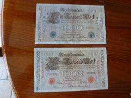 LOT DE 2 BILLETS ALLEMAND A IDENTIFIER, VOIR SCAN RECTO-VERSO DU 21 AVRIL 1910 - Alemania