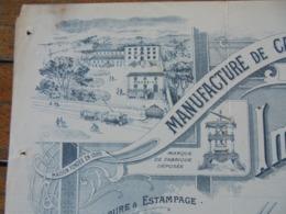 FACTURE - MARSEILLE 1927, MANUFATURE DE CARTONNAGES : L. VITTORI,  35 RUE D'ENDOUME - BELLE DECO - Frankreich