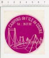 Autocollant Sticker Publicité Camping De L'Ile De Cosne (sur-Loire Pont Tente) ADH 21/21 - Pegatinas