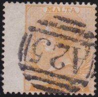 Malta    .  SG  .  O   .   SG  .  7   (2 Scans)     .     O   .    Gebruikt  .   /   .  Cancelled - Malta (...-1964)