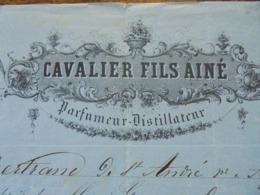 FACTURE - GRASSE, 1868 - PARFUMEUR DISTILLATEUR : CAVALIER FILS AINE - Frankreich