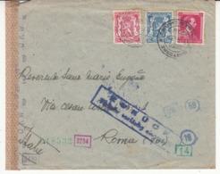 Guerre 1940/45   Envlp   Vers  Rome    Italie  2 Scan - Lettere