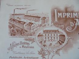 FACTURE - PARIS 19 ème - IMPRIMERIE D'ART ET DE PUBICITE , 24 RUE DE MEAUX : G. VENDEL ET CIE - DECO - Frankreich