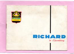 Livret Qui Raconte  L'histoire De  L'apéritif LE VERMOUT RICHARD Le Chambery En SAVOIE 8 Pages Année1950 - Gastronomie