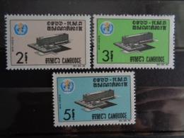 CAMBODGE 1966 Y&T N° 172 à 174 ** - INAUGURATION DU PALAIS DE L' O.M.S. A GENEVE - Cambodia