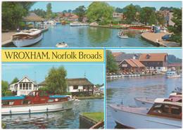 WROXHAM, NORFOLK BROADS MULTIVIEW. UNPOSTED - Angleterre