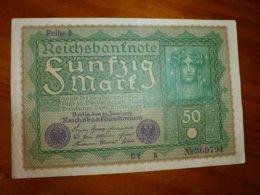 1 BILLET ALLEMAND A IDENTIFIER, VOIR SCAN RECTO-VERSO DU 24 JUIN 1919 - Germany
