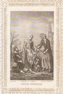 Image De Sainte Germaine, Canonisée En 1867, 50 Jours D'indulgence Par S.S. Pie IX, Pibrac, Découpis - Santini