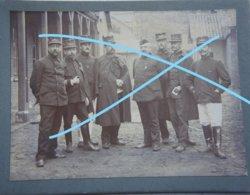 Photo ABL Groupe Officiers Armée Belge Début 1900 Militaria Uniforme Belgische Leger Guerre - Oorlog, Militair