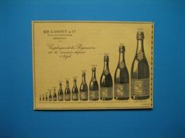 (1909) Vins De Champagne CH. GARDET & C° à Épernay (Graphique De La Progression De La Maison Depuis 1896) - Advertising