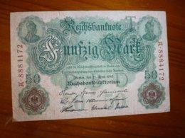 1 BILLET ALLEMAND A IDENTIFIER, VOIR SCAN RECTO-VERSO DU 21 AVRIL 1910 - Alemania