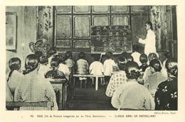 Pays Div -ref U545- Taiwan - Ile De Formose -ecoles -ecole - Missions - Mission Des Peres Dominicains -classe Orphelinat - Taiwan