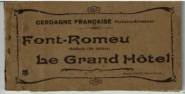 FONT-ROMEU -  CARNET Du GRAND HÔTEL -  CERDAGNE FRANCAISE - ( Pas Courant ) - VOIR SCANS - Autres Communes