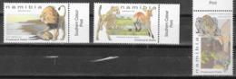 NAMIBIA, 2019, MNH,FELINES, BIG CATS, LIONS, CHEETAHS, LEOPARDS, 3v - Big Cats (cats Of Prey)