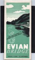 CARNET DE MARQUAGE DE POINTS POUR JEU DE BRIDGE Evian COMPLET OU DE BISTROT DE BAR DE CAFE 20cmX9cm - Advertising Items