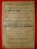 PUB 1892 - Céramiques à Ciry Le Noble 71; Chimie à Marseille-L'Estaque 13; Gilliard Monnet à Lyon; Rhum Negrita - Werbung