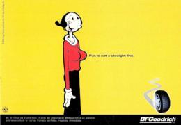 [MD3884] CPM - FUMETTI - OLIVIA - PBLLICITARIA BF GOODRICH - PROMOCARD 1651 - PERFETTA - NV - Fumetti