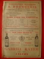 PUB 1892 - Distillateur Rue Beauséjour Nantes; à Angers; Cote St Sébastien Nantes; Emaux à Rimogne 08 - Publicités