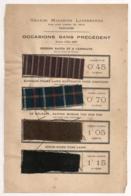1887 ECHANTILLONS DE TISSUS GRANDS MAGASINS LAPERSONNE TOULOUSE   E25 - Laces & Cloth