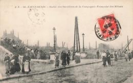 93 Saint Denis Sortie Des Ouvrieres De La Compagnie Française Des Metaux Cachet 1918 Cpa Carte Animée - Saint Denis