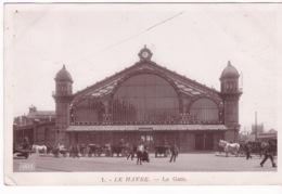 76-LE HAVRE- LA GARE-ANIMÉE - Le Havre
