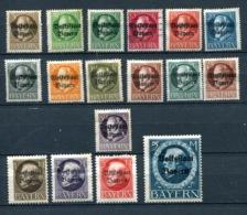 ALLEMAGNE  BAYERN/BAVIERE   Lot  YT N° 116 à 133.  Manquant Le 125    Oblitérés - Bavaria