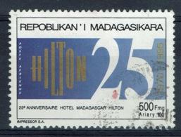 Madagascar, Hotel HILTON Madagascar, 1995, VFU Airmail  # 214 - Madagaskar (1960-...)
