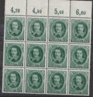 Allemagne 1936  IIIème Reich N° 564 NMH Bloc 4 X 4 Bord De Feuille  (D) - Germany