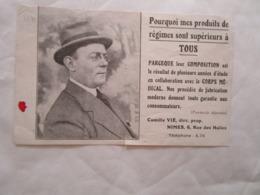 Carte Publicitaire Pain De Suralimentation Physiologique Nimes - Nîmes