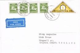 34083. Carta Aerea VILNIUS (Lituania) 1991 To England - Lituania