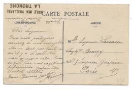 38 - Cachet Asile Des Vieillards La Tronche (Hôpital Temporaire) Sur Cpa Grenoble Perspective Du Cours De Saint-André - Guerre 1914-18