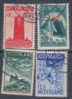 Pays-Bas N° 254 / 57 O  Emis Au Profit Des Oeuvres Maritimes  Les 4 Valeurs Oblitérations Légères  Sinon TB - Usati