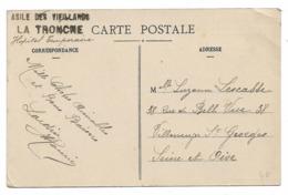 38 - Cachet Asile Des Vieillards La Tronche (Hôpital Temporaire) Sur Cpa Grenoble Carrefour Avenue Alsace-Lorraine... - Guerre 1914-18