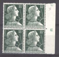 France  :  Yv  1011Aa  **  Type II  ,  Blonde 4 - France